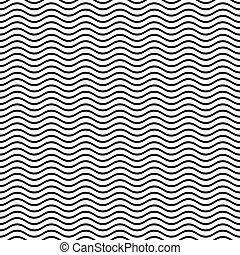 Seamless wavy line pattern - Black seamless wavy line...