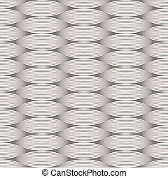 Seamless wavy lines monochrome vector pattern.