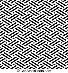 Seamless weave pattern geometric background
