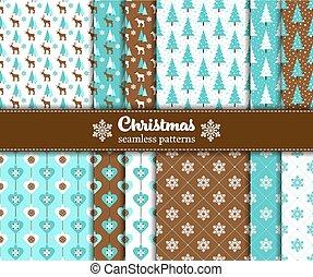 seamless, weihnachten, muster