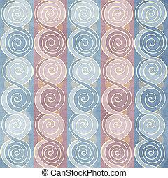 seamless, weinlese, spiralförmiges muster