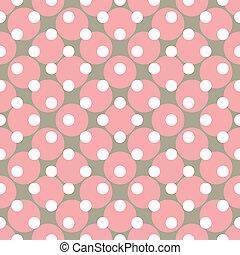 seamless, wektor, kropkuje, różowy, próbka