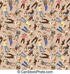 seamless west cowboy pattern