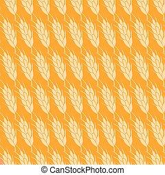 Seamless wheat pattern