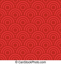 Seamless white and red polka dot background