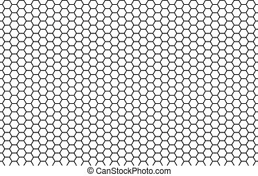 Seamless White Black Hexagon Texture
