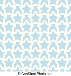 Seamless white blue pattern with stars
