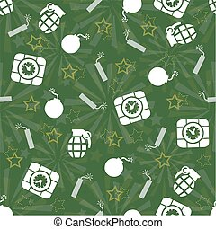 seamless white bomb pattern background