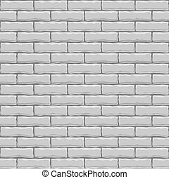 Seamless white brick vector square texture.