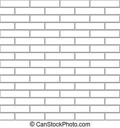Seamless white brick wall vector pattern.