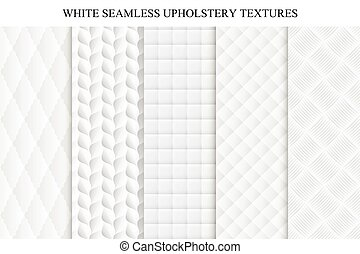 Seamless white decorative soft textures. - Collection of...