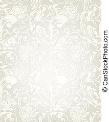 Seamless White Floral Pattern, eps10