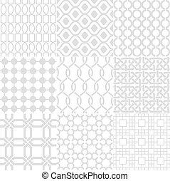 seamless white geometric background