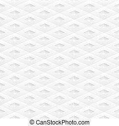 Seamless white geometric modern pattern. Rhomb structure Vector illustration.