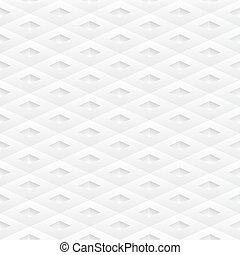 Seamless white geometric modern pattern. Rhomb structure Vector illustration.