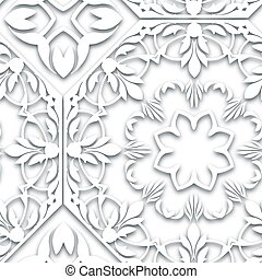 Seamless white pattern