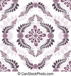 Seamless white-pink pattern