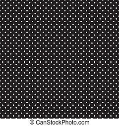 Seamless White Polka Dots on Black - Seamless pattern, small...