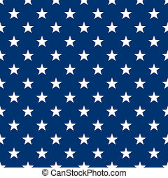 Seamless White Stars on Navy Blue
