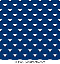 Seamless White Stars on Navy Blue