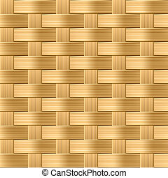 Seamless wicker pattern - Vector seamless illustration of a...