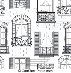 seamless windows seamless pattern