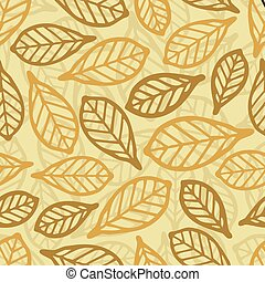 seamless winter leaf pattern background