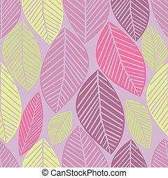 seamless winter leaves pattern
