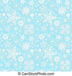 Seamless winter pattern on paper