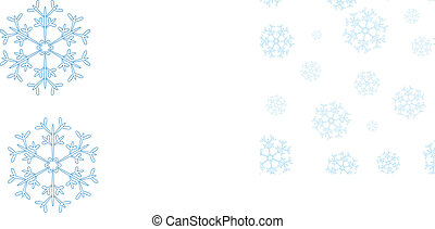 seamless winter pattern with blue snowflakes