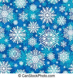 Seamless winter snowflakes