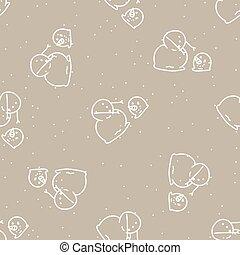 Seamless winter snowman head background pattern. Simple gender neutral nursery festive scrapbook digital paper. Kids whimsical cute cartoon wallpaper all over print.