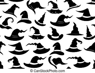 Seamless witch hats