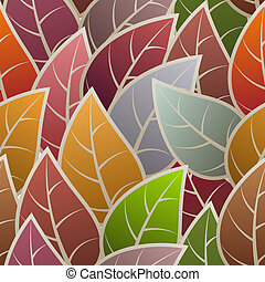 Seamless with abstract leafs