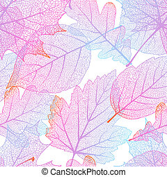 Seamless with autumn leaves. EPS 10