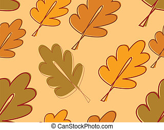 seamless  with autumn oak leaves