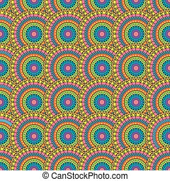 Seamless with colored circles