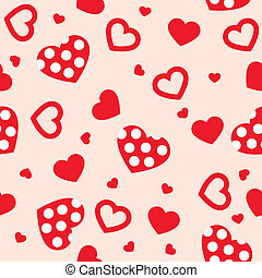 Seamless with hearts