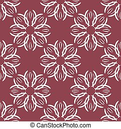 Seamless with vintage floral pattern.