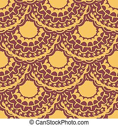 Seamless with vintage pattern. Vector illustration
