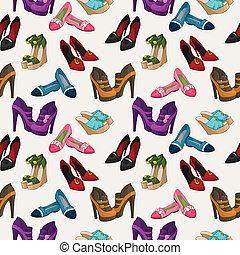 Seamless woman's fashion shoes pattern