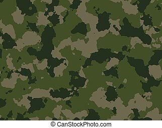 Seamless woodland camo pattern vector. - Seamless woodland...