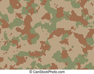 Seamless woodland camo pattern vector. - Seamless woodland...