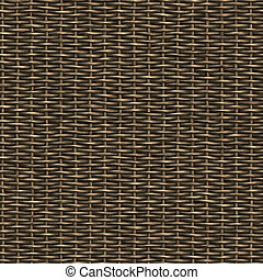 Seamless woven wicker material.This tiles as a pattern in...