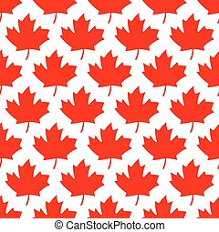 seamless wrapping paper - red maple leafs