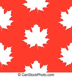 seamless wrapping paper stylized and isolated white maple...