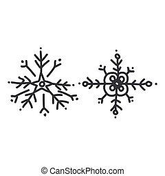 Seamless xmas snowflake illustration clipart. Simple gender neutral nursery festive scrapbook sticker. Kids whimsical cute hand drawn cartoon christmas motif.
