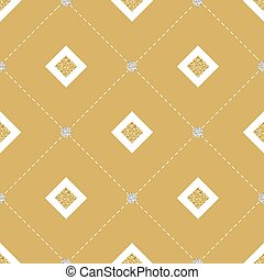 seamless yellow and gold square glitter with silver dot glitter pattern on yellow background