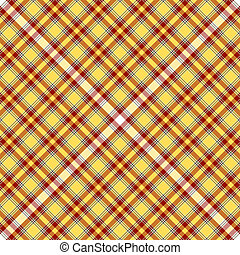 Seamless yellow and red tartan pattern (vector EPS 10)