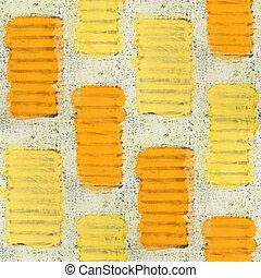 seamless yellow, beige bricks texture background wallpaper ...